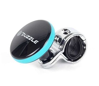 Picture of Puzzle Sporty Design Car Steering Power Handle Spinner Knob - Black and Blue