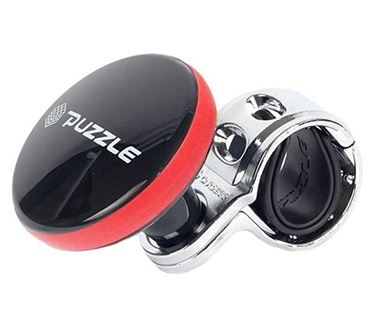 Picture of Puzzle Sporty Design Car Steering Power Handle Spinner Knob - Black and Red