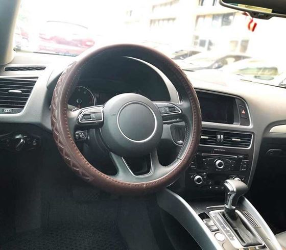 Picture of (AFSC-MF1909-BR) Universal Premium Leatherite Car Steering Wheel Cover - Medium Size (380mm)