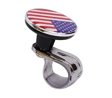 Picture of Flag Power Handle Car Steering Knob - Style 3