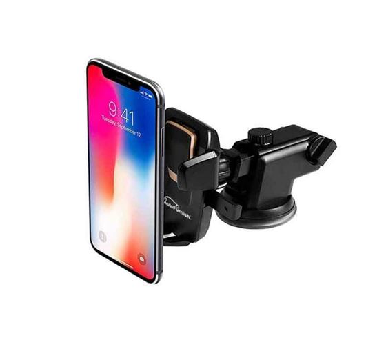 Picture of Adjustable Mobile Holder/Mobile Stand/Car Stand with Quick One Touch Technology for Mobiles Phones (Black)