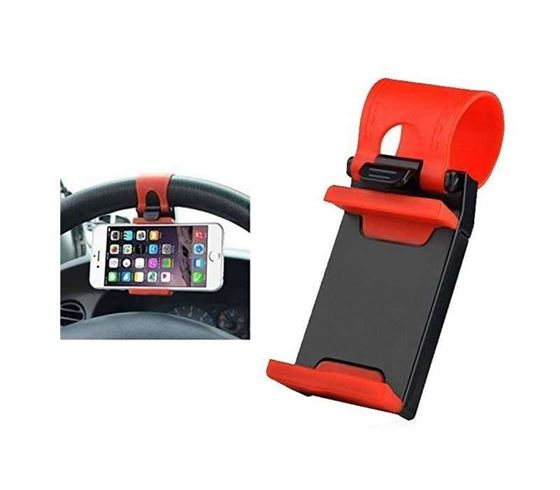 Picture of Adjustable Car Steering Wheel Mobile Phone Holder with Anti Slip Design