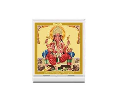 Picture of Diviniti 24k Gold Plated Car Dashboard Frame Ganesha (ACF 3)