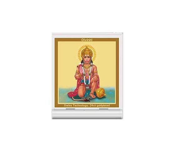 Picture of Diviniti 24k Gold Plated Car Dashboard Frame Hanuman (ACF 3)