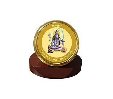 Picture of Diviniti 24k Gold Plated Car Dashboard Frame Shiva (MCF 1CR)