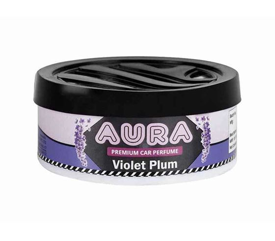Picture of ULS Aura Air Freshener Gel Car Perfume for Car Home Office (50gm) - Violet Plum
