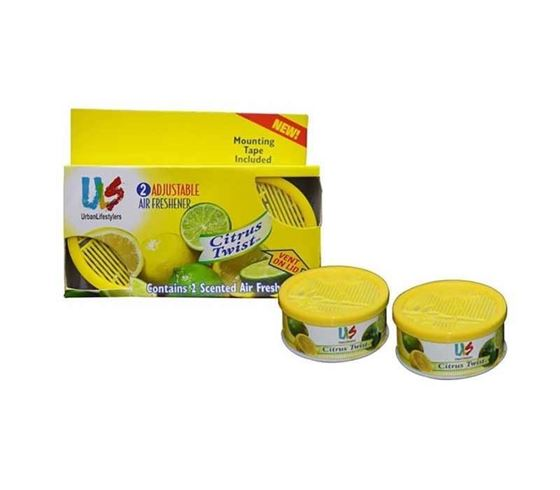 Picture of ULS Air Freshner Scented Gel Car Perfume for Car Home Office (Set of 2) - Citrus