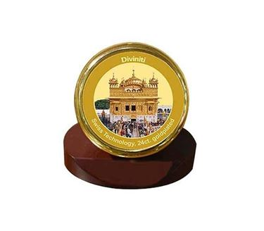 Picture of Diviniti 24k Gold Plated Car Dashboard Frame Golden Temple (MCF 1CR)