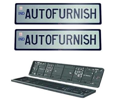 Picture of High Security Car Number Plate Frame Folding for Car