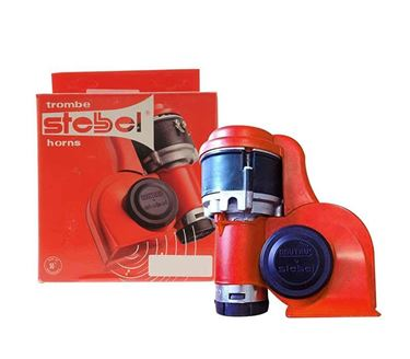 Picture of Stebel Brio Horn BP3 (Red) with Raley - Made in Italy