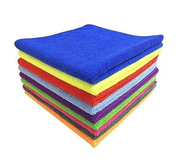 Picture of Microfiber Car Cleaning Cloth (Pack of 5) Muticolor Assorted