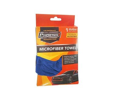 Picture of Phoenix1 High Quality Microfibre Cloth Microfiber Cleaning Cloth - Blue