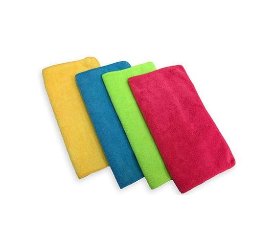 Picture of Microfiber Car Cleaning Duster - 250GSM Towel Cloth (Set of 4) Assorted Color