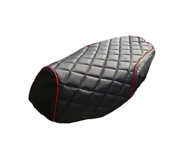 Picture of PU Leather Designer Bike Scooter Seat Cover (MTSC-304-BLRD) for Honda Shine