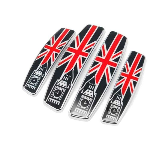 Picture of European Door Guard Union Jack Edge Guards Bumper Protector (Set of 4)