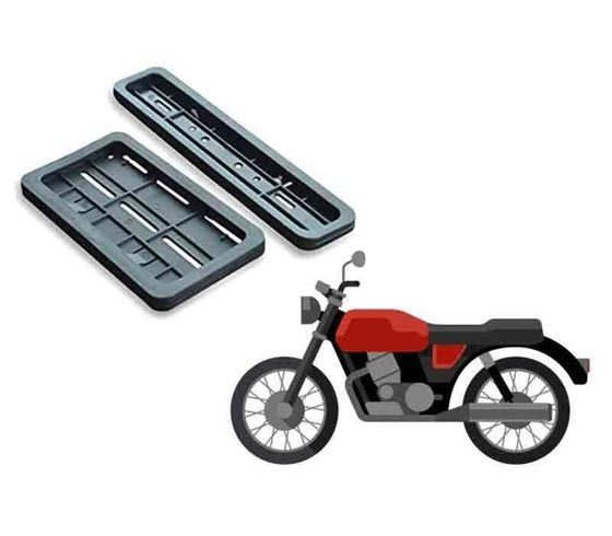 Picture of High Security Number Plate Frame Folding for Bike