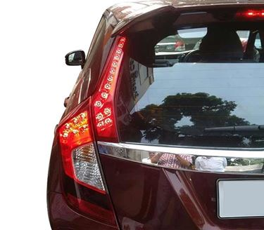 Picture of New Honda Jazz Reflector With Indicator Matching Red Lens LED Lights Rear Side Pillar Tail Brake Lamps