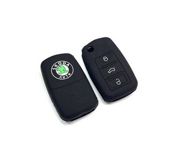 Picture of Silicone Key Cover for Skoda Superb (3 Button Flip Key)