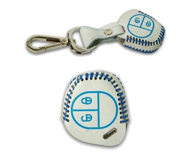Picture of Genuine Leather Car Key Cover compatible with Maruti Suzuki Ciaz (Normal Key - White)
