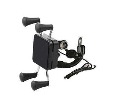 Picture of Waterproof Universal Bike Mobile Holder with USB Charger (Black)