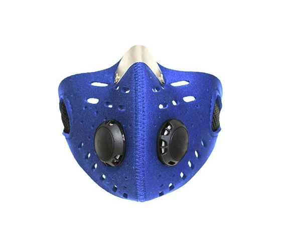 Picture of Anti-pollution Half Face Mouth-muffle Dust Face Mask Specially for Bike Riders (Blue)