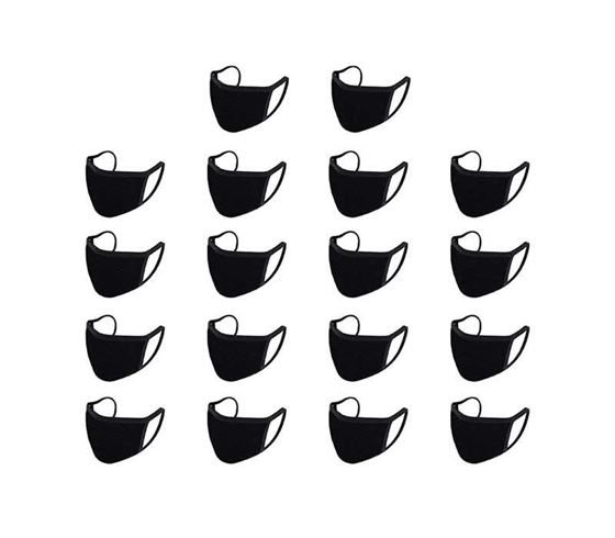 Picture of Reusable Mouth Nose Face Mask for Anti-Pollution, Virus Protection, Dust Fumes Germs Pollen Doctor Mask (Set of 18)