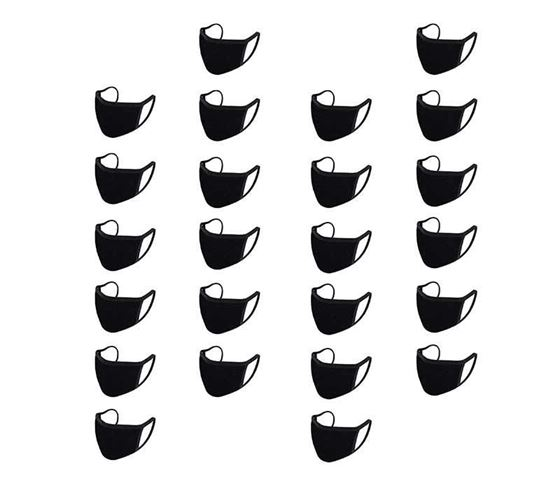 Picture of Reusable Mouth Nose Face Mask for Anti-Pollution, Virus Protection, Dust Fumes Germs Pollen Doctor Mask (Set of 24)