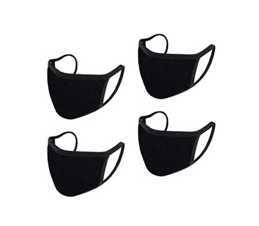 Picture of Reusable Mouth Nose Face Mask for Anti-Pollution, Virus Protection, Dust Fumes Germs Pollen Doctor Mask (Set of 4)