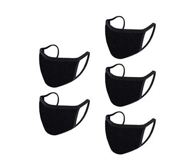 Picture of Reusable Mouth Nose Face Mask for Anti-Pollution, Virus Protection, Dust Fumes Germs Pollen Doctor Mask (Set of 5)