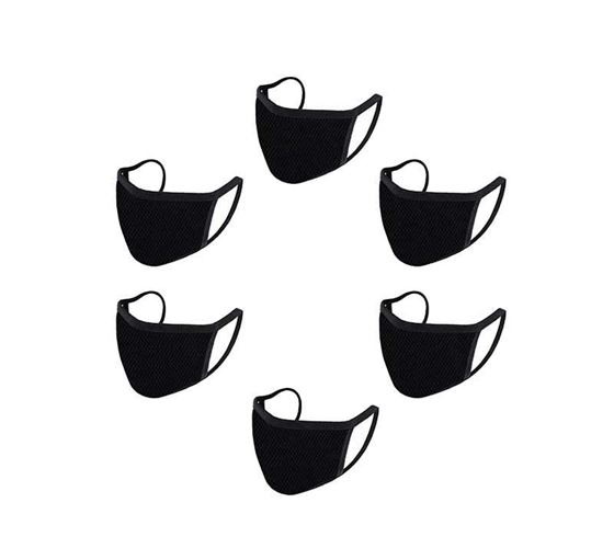 Picture of Reusable Mouth Nose Face Mask for Anti-Pollution, Virus Protection, Dust Fumes Germs Pollen Doctor Mask (Set of 6)