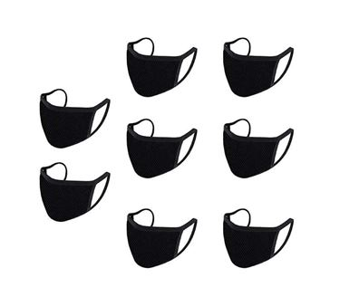 Picture of Reusable Mouth Nose Face Mask for Anti-Pollution, Virus Protection, Dust Fumes Germs Pollen Doctor Mask (Set of 8)