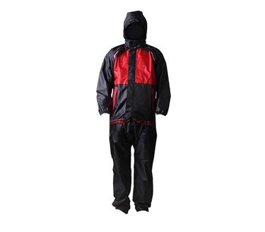 Picture of 100% Waterproof Stunner Rain Suit (Red&Black) With Carry Bag Raincoat (Size-L)