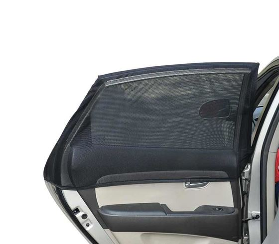 Picture of Car Rear Window Pullover Sun Shades for Big Cars & Small SUVs - Black (Set of 2pcs)