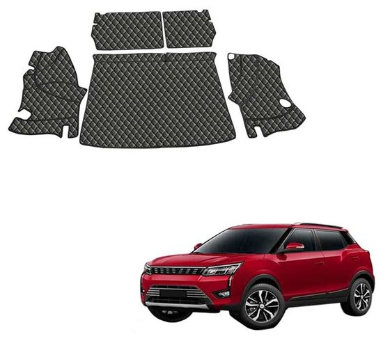 Picture of 7D Luxury Custom Fitted Car Trunk Mat for Mahindra XUV300 2019 - Black