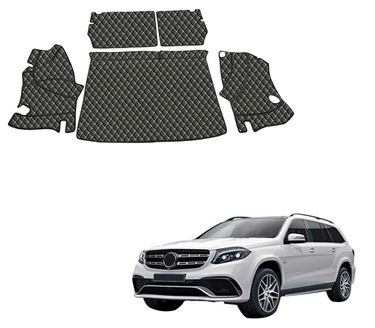 Picture of 7D Luxury Custom Fitted Car Trunk Mat for Mercedes GLS 2018 - Black