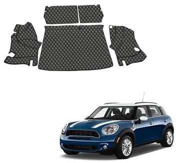 Picture of 7D Luxury Custom Fitted Car Trunk Mat for Mini Cooper S Countryman - Black