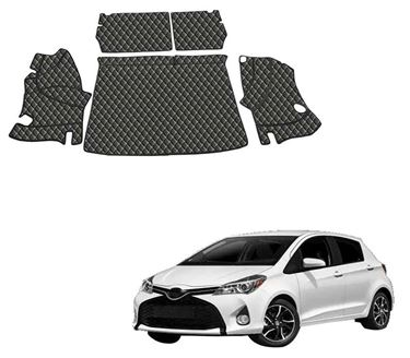 Picture of 7D Luxury Custom Fitted Car Trunk Mat for Toyota Yaris - Black