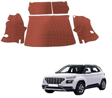 Picture of 7D Luxury Custom Fitted Car Trunk Mat for Hyundai Venue 2019 - Tan