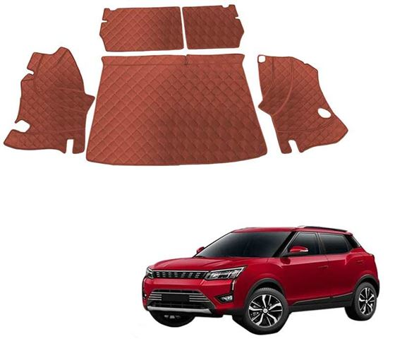 Picture of 7D Luxury Custom Fitted Car Trunk Mat for Mahindra XUV300 2019 - Tan