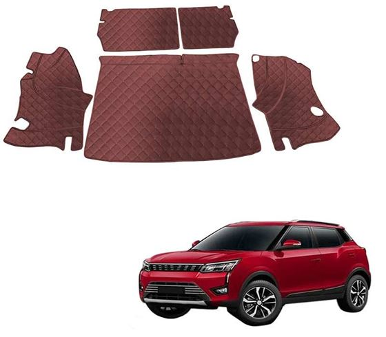 Picture of 7D Luxury Custom Fitted Car Trunk Mat for Mahindra XUV300 2019 - Coffee