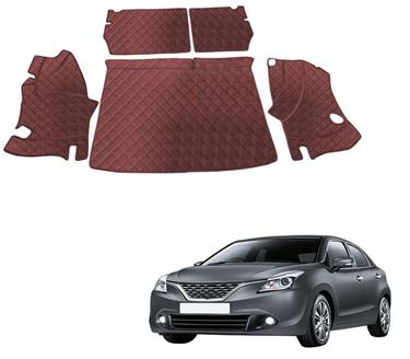Picture of 7D Luxury Custom Fitted Car Trunk Mat for Maruti Suzuki Baleno - Coffee
