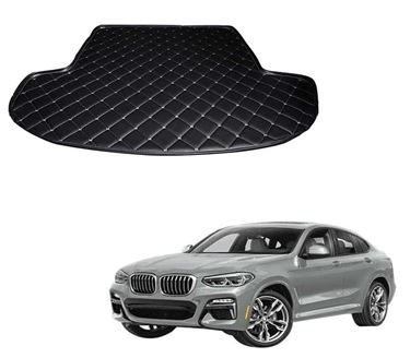 Picture of 7D Custom Fitted Car Trunk Base Mat for BMW X4 xDrive 2019 - Black