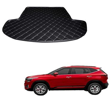 Picture of 7D Custom Fitted Car Trunk Base Mat for KIA Seltos GT Line 2019 - Black