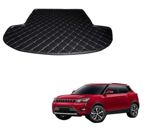 Picture of 7D Custom Fitted Car Trunk Base Mat for Mahindra XUV300 2019 - Black