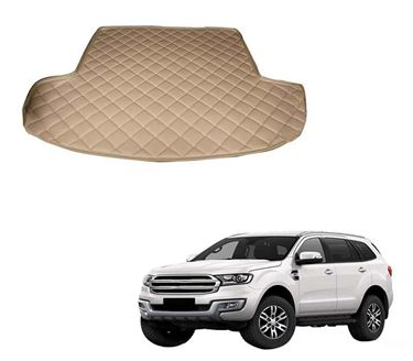 Picture of 7D Custom Fitted Car Trunk Base Mat for Ford Endeavour 2017 - Beige