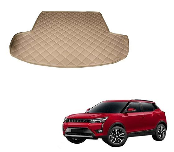Picture of 7D Custom Fitted Car Trunk Base Mat for Mahindra XUV300 2019 - Beige