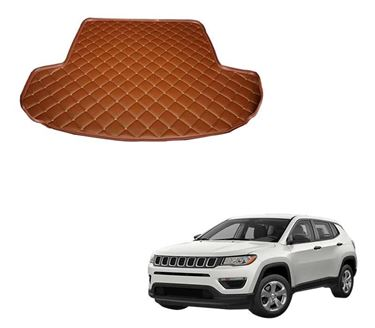 Picture of 7D Custom Fitted Car Trunk Base Mat for Jeep Compass 2017 - Tan