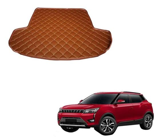 Picture of 7D Custom Fitted Car Trunk Base Mat for Mahindra XUV300 2019 - Tan