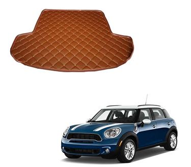 Picture of 7D Custom Fitted Car Trunk Base Mat for Mini Cooper S Countryman - Tan