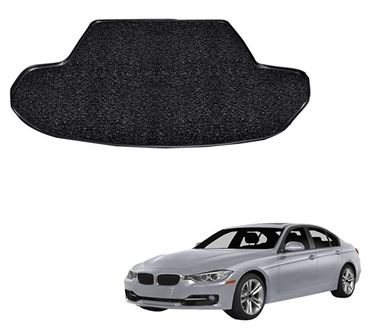 Picture of Curly Custom Fitted Car Trunk Mat for BMW 3 Series 2019 - Black